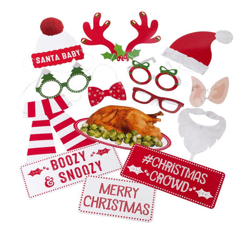 Christmas Photo booth prop kit