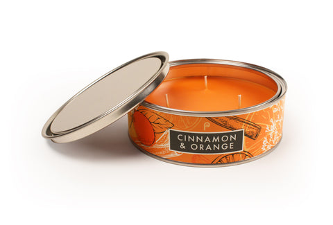 Orange and Cinnamon Christmas Smelling Candle
