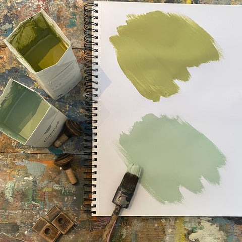 Cornish Milk Mineral Paint Colour Samples