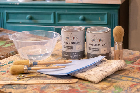 Annie Sloan Paint and brushes from La Di Da Interiors, Andover, Hampshire