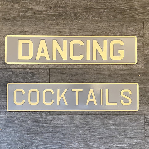 Dancing and Cocktail Signs