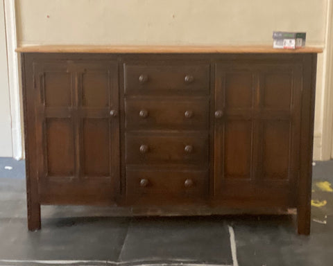 Ercol brown wood sideboard