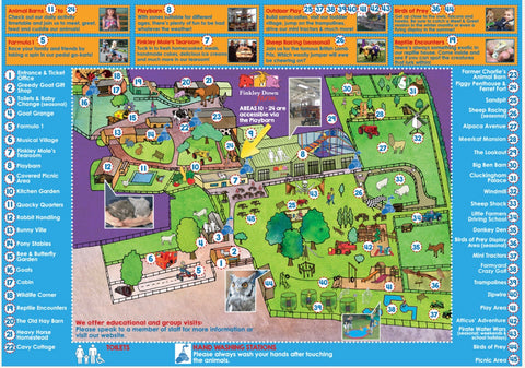 Finkley Down Farm map of things to do Andover