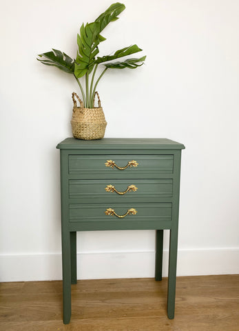 Cornish Milk Mineral Painted Cabinet in Samphire