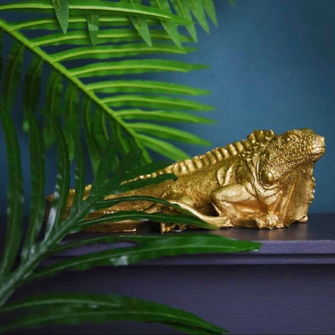 Gold Iguana Ornament