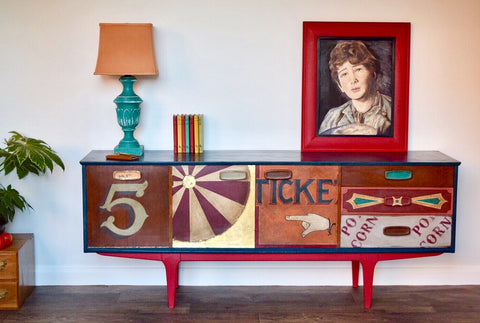 Painted 5o's sideboard by Jonathon Marc Mendes