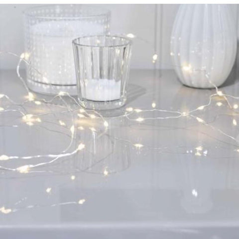 Fairy Lights on a white table