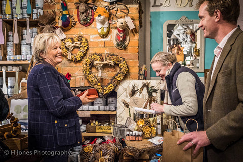Customers buy-in gifts at La Di Da Interiors