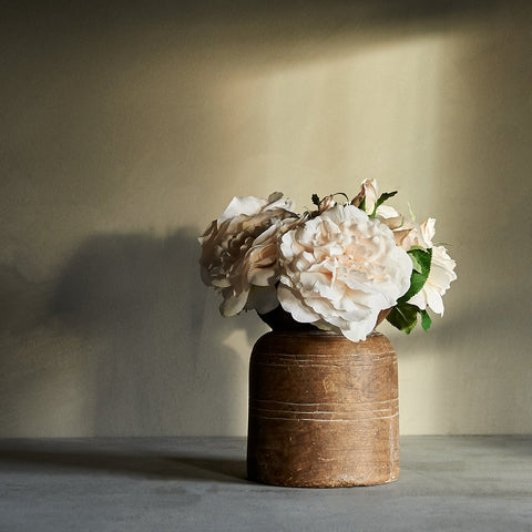 Massin Vases and Real Touch Blush Pink Roses