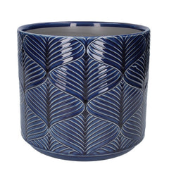 Gisela Graham Navy Pot Cover