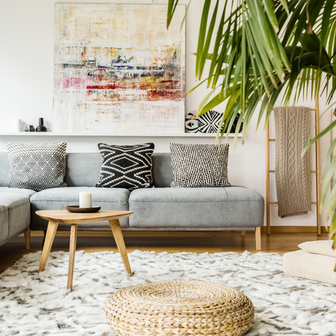 Scandi Interior with textures