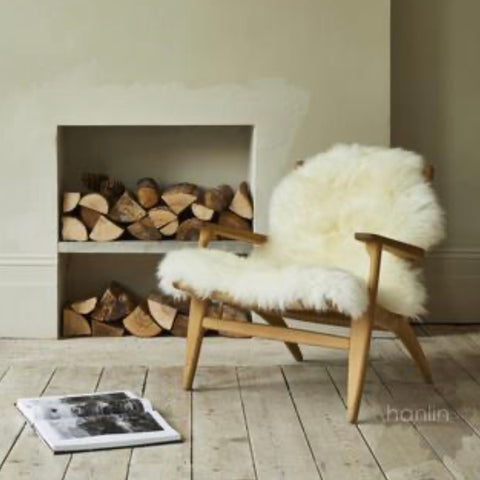 Sheepskin over a chair scandi style
