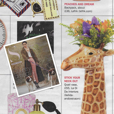 Giraffe Vase as seen in the Express on Sunday