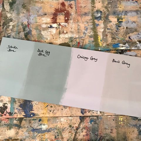 Svenska Blue Chicago Grey Annie Sloan Chalk Paint Samples