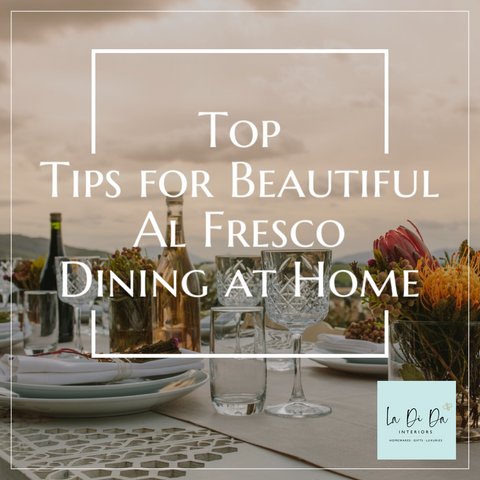 Top Tips for Beautiful Al Fresco Dining