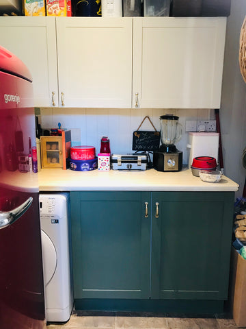 Completed utility room cupboard makeover