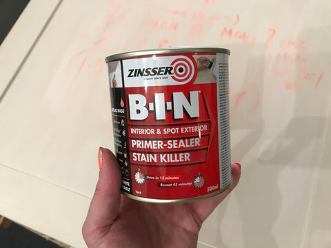 Zinsser BIN stain blocker tin