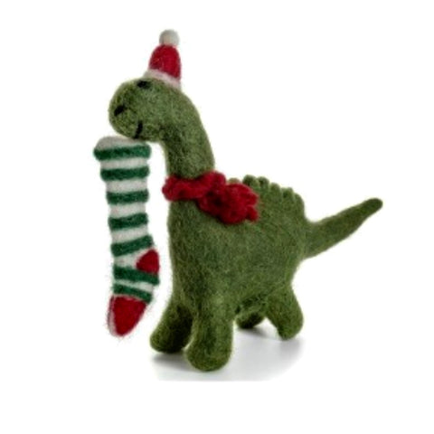 Felt Dinosaur Christmas Decoration