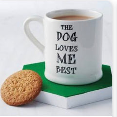 Dog loves me best Mug