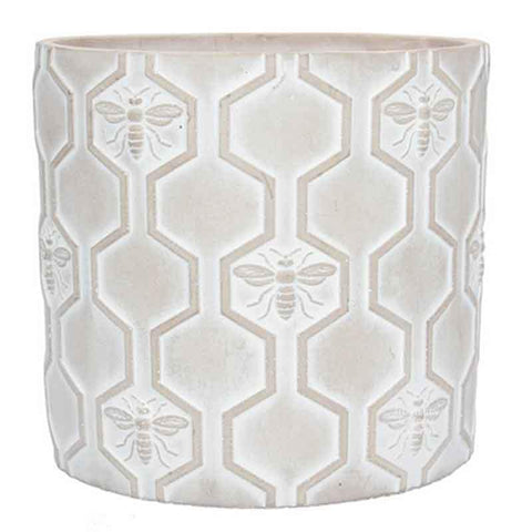 Honeycomb and bee plant pot