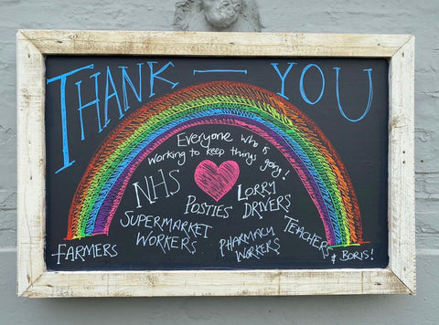 Thank you COVID-19 chalkboard