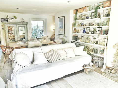 All white interior sitting room