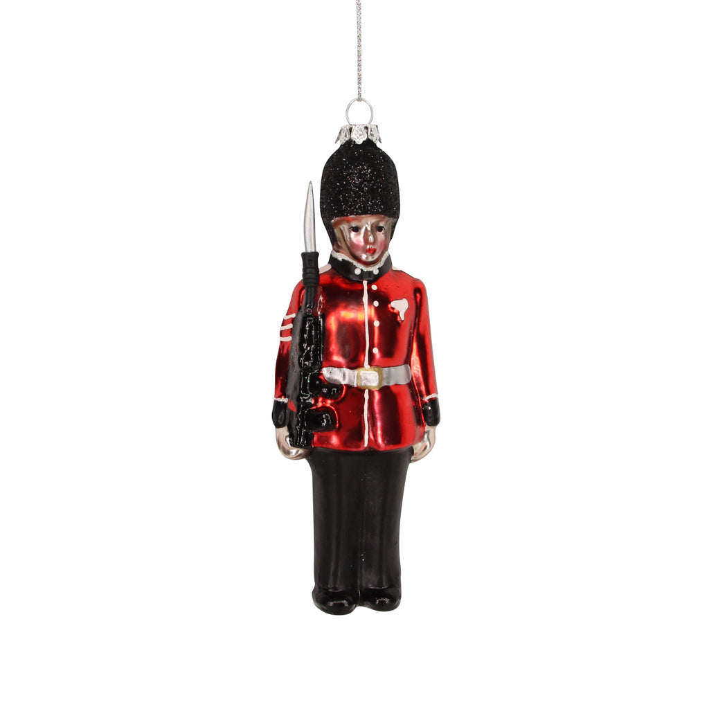 Painted Queens Guard Soldier Christmas Tree Decoration