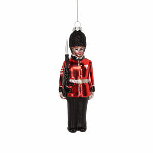 Painted Queens Guard Soldier Christmas Tree Decoration - La Di Da Interiors