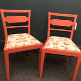 Upcycled flamingo chairs - Pinky & Perky SOLD