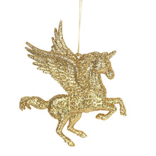 Load image into Gallery viewer, Gold Unicorn Christmas Tree Decoration