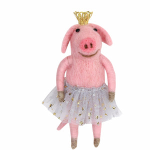Felt Wool Ballerina Betty Pig by Gisela Graham - La Di Da Interiors