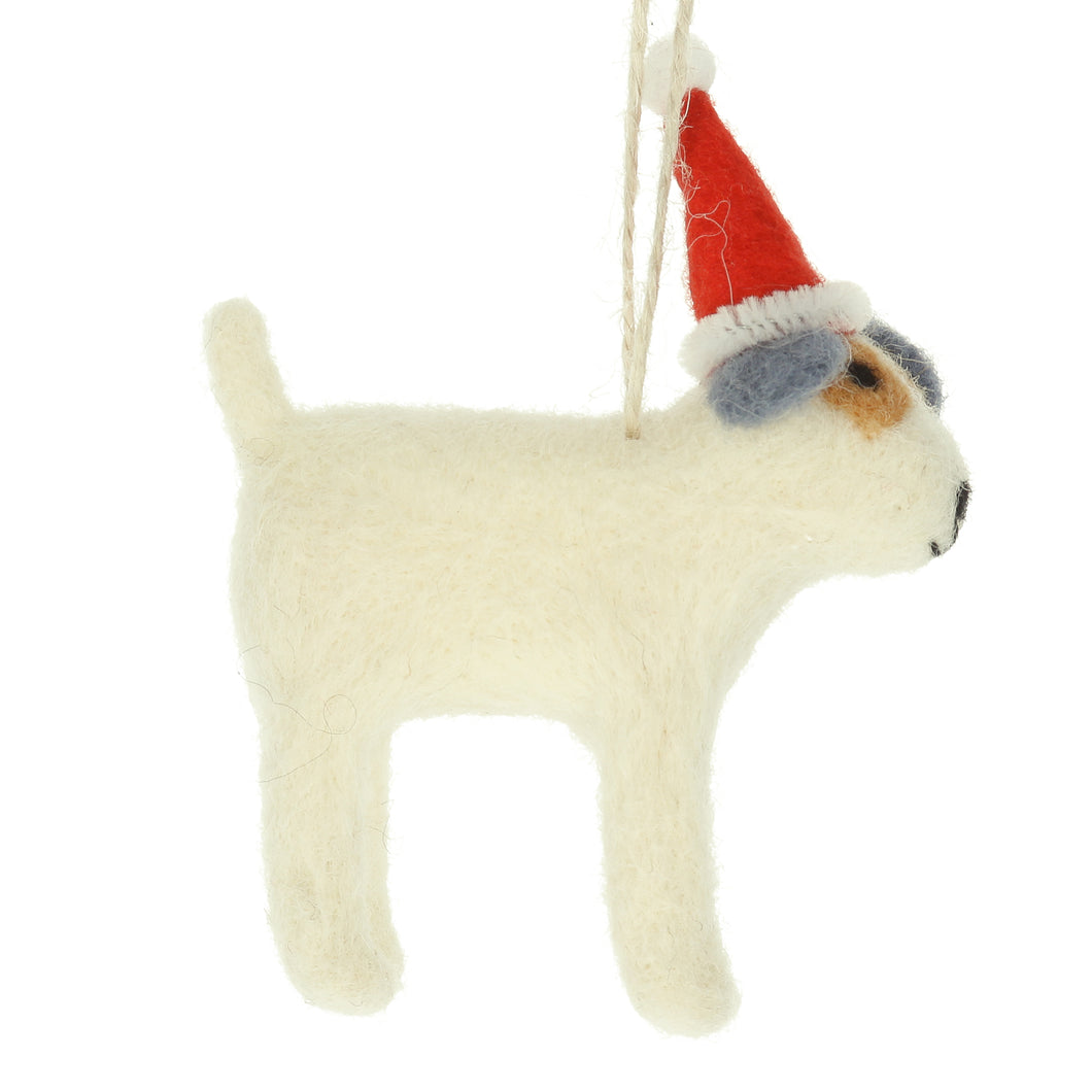 Patch the Dog Felt Christmas Tree Decoration