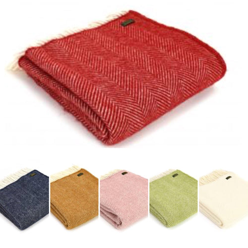 Tweedmill Pure New Wool Blanket 150 x 183cm - La Di Da Interiors