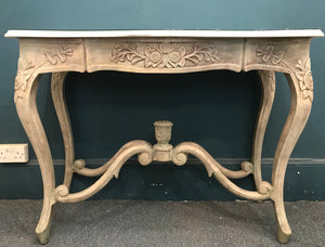 Marble & Stone effect console table SOLD - La Di Da Interiors