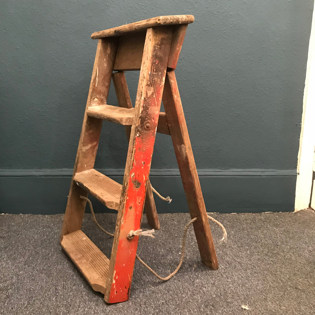 Vintage set of painters ladders SOLD - La Di Da Interiors