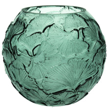 Load image into Gallery viewer, Green Ginkgo Globe Glass Vase - La Di Da Interiors