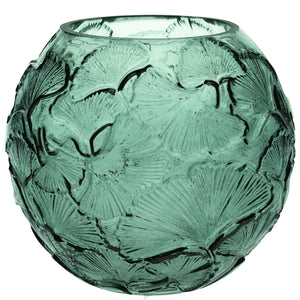 Green Ginkgo Globe Glass Vase - La Di Da Interiors