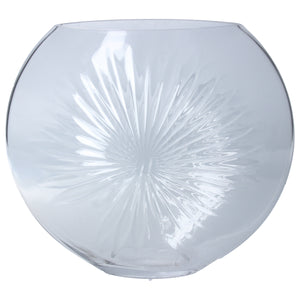 Clear Large Daisy Disc Vase