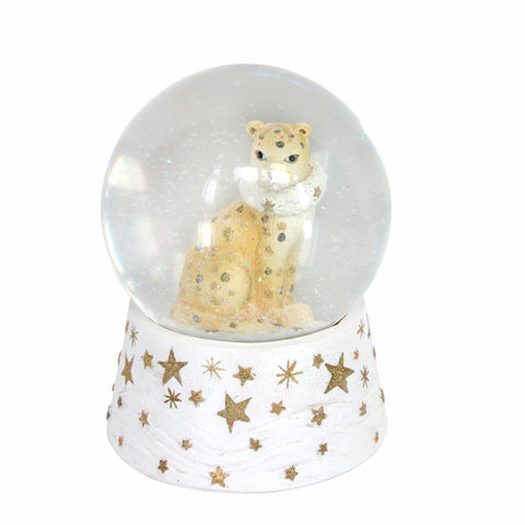 Leopard Snow Music Box