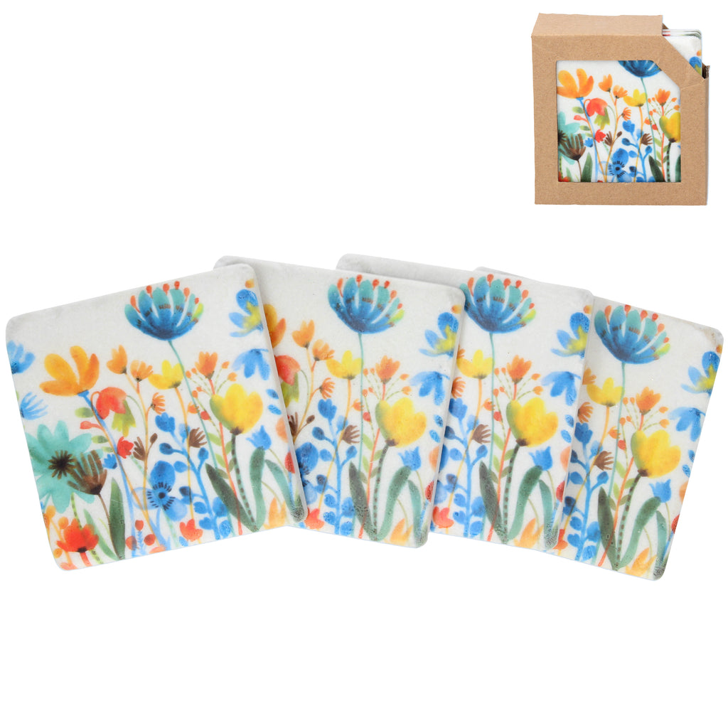 Summer Meadow Coasters Set of 4 - La Di Da Interiors