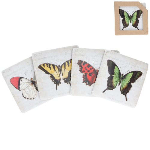 Butterfly Coasters Set of 4 - La Di Da Interiors
