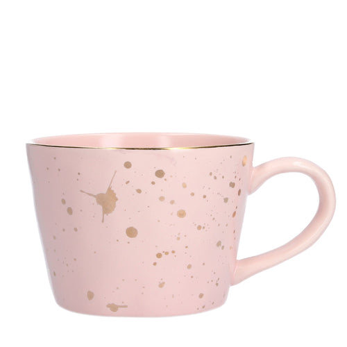 Pink Gold Splash Mug