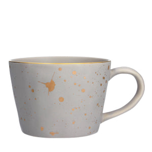 Grey and gold splash mug