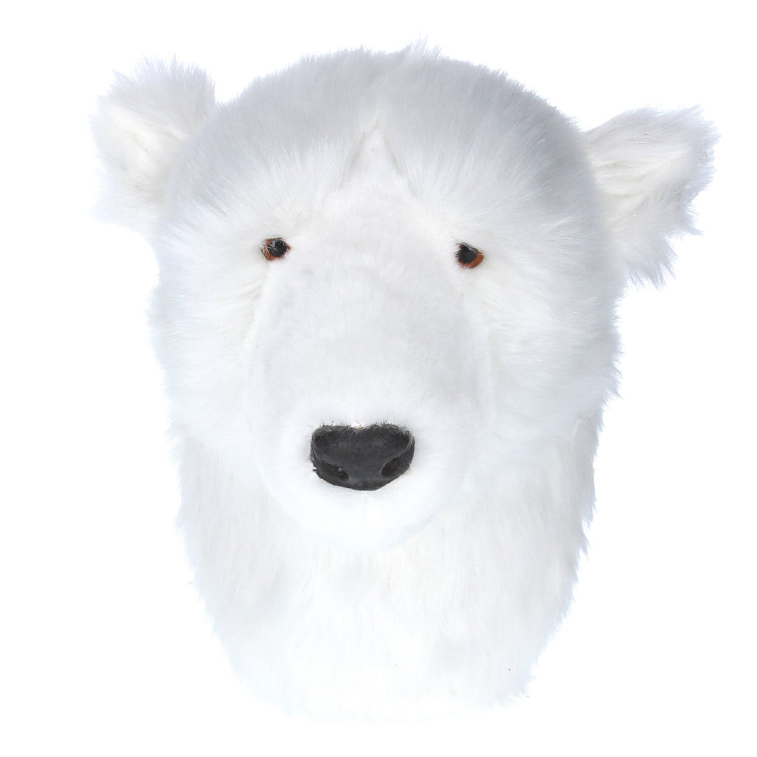 Faux Fur Polar Bear Head Wall Plaque - La Di Da Interiors