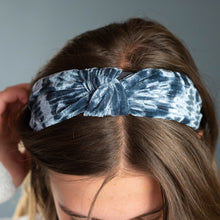 Load image into Gallery viewer, Crushed Velvet Headband Faded Grey