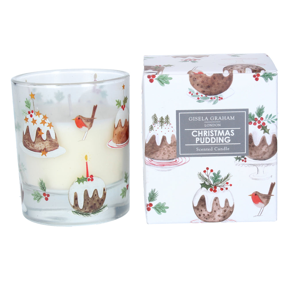 Gisela Graham Festive Candle: Plum Pudding