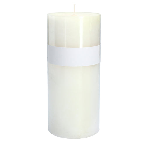 White Vanilla Pillar Candle by Gisela Graham