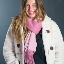 Load image into Gallery viewer, Pink Herringbone Soft Scarf