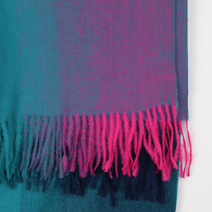 Ombre Scarf Teal Blue, Pink & Purple