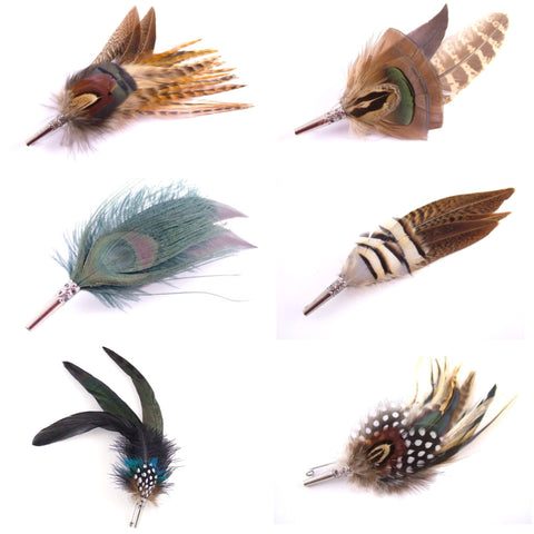 Feather Brooch Pins